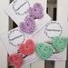 Crochet heart hair clips (pastels)