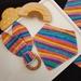 Bandana bib and teething toy set