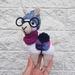 Crochet hipster llama (made to order)