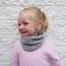 Merino knit toddler cowl