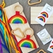 Rainbow teething rattle (made to order)