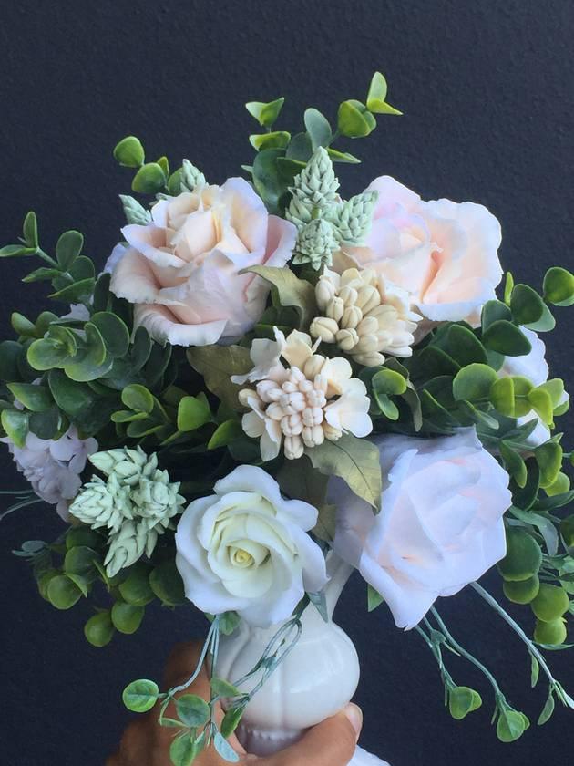 Realistic Handmade flowers polymer clay