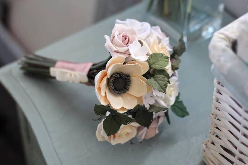 Wedding bouquet - polymer clay
