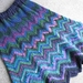 Hand Knitted Skirt - Blue Zigzag