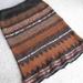 Hand Knitted Skirt - Black/Brown