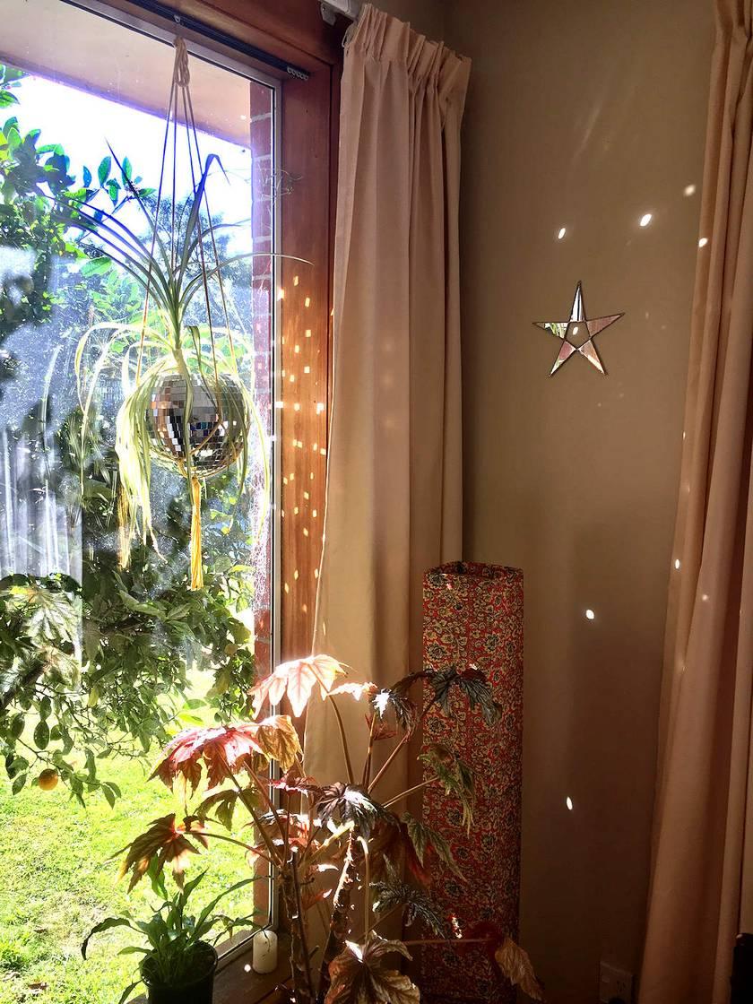 Star Mirror Wall Hanging