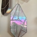 Iridescent crystal stained glass hanging