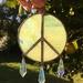 Peace suncatcher - green glass