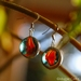 Marble Earrings - Brown Cat's eye