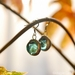 Marble Earrings - Light blue Cat's eye