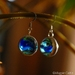 Marble Earrings - Blue Cat's eye