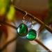 Marble Earrings - Green Cat's eye