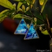 Pyramid Earrings - painted glass