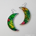 Moon Earrings - painted glass
