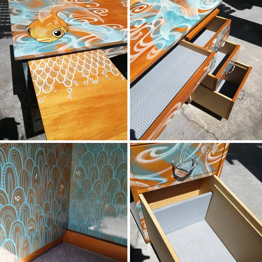 Hand-painted Desk