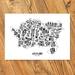 Auckland Map - A2 Art Print