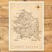 Kawau Island Map - A3 Art Print