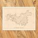 Waiheke Island Map - A2 Art Print