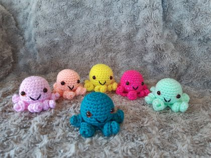 Crochet Coloured Octopuses