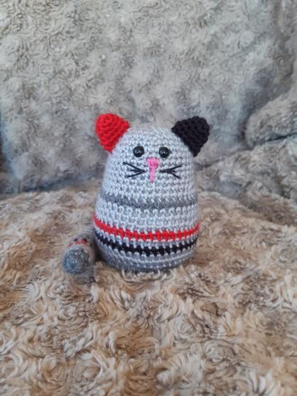 Crochet Cat Rattle