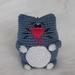 Crochet Cat keyring/bagtag