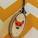 Sparkle Fox Mini Hoop Necklace