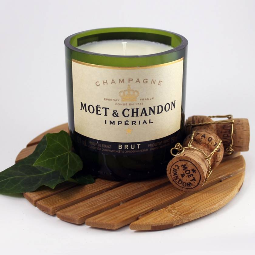 Recycled - Champagne Bottle Candles