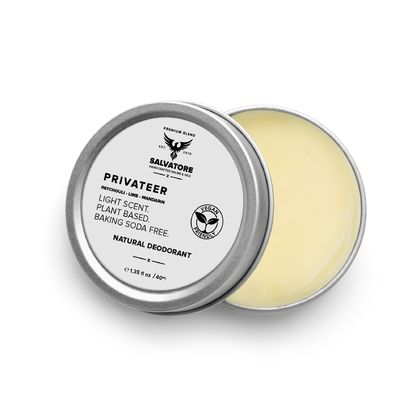 Privateer Deodorant - Patchouli, Lime, Mandarin - Vegan Friendly