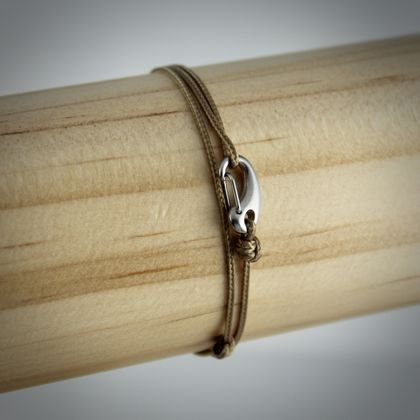 Men's/Unisex Minimalist Adjustable Cord Bracelet in Tan | BELMAN CO.
