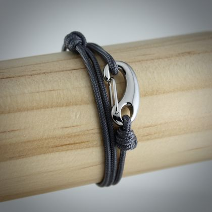 Men's Tactical Cord Bracelet in Grey | BELMAN CO.