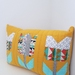 Quilted patchwork flower cushion