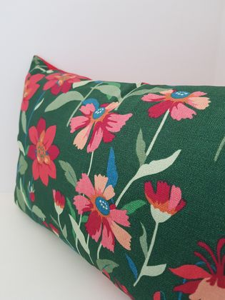 SALE - Dark green flower cushion now reduced to $15