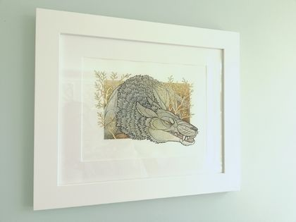 The Wolf - Original and Framed