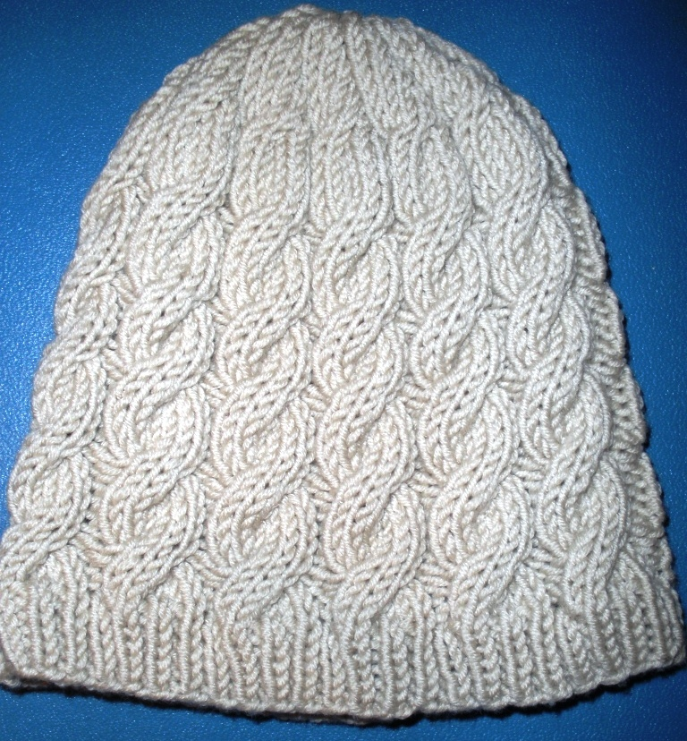 Knitted Patterns : Cable Hat knitting pattern Felt
