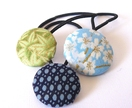 3 Japanese Fabric Hair Ties