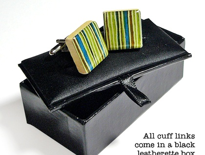 Japanese Paper Cuff Links
