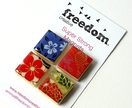Japanese Paper Magnets - set of four