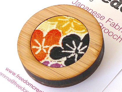 Japanese Fabric Brooch
