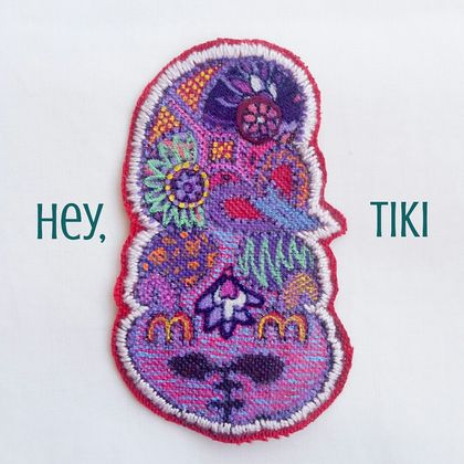 Hey, Tiki iron-on patch