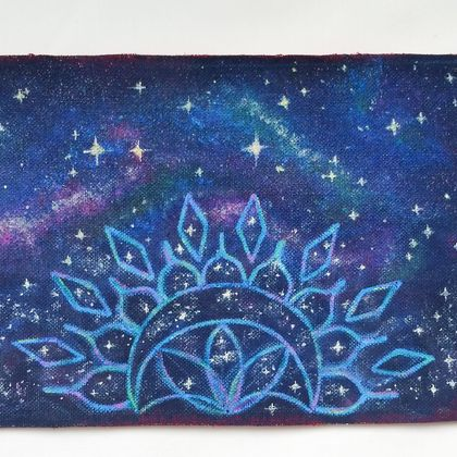 Glitter Galaxy iron-on patch