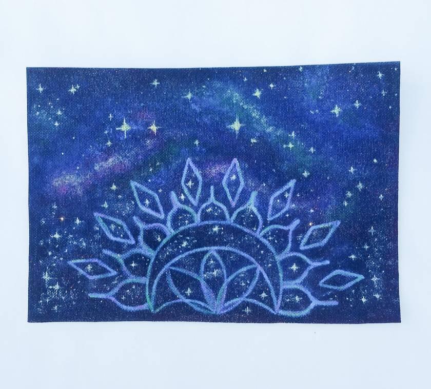 Glitter Galaxy iron-on patch