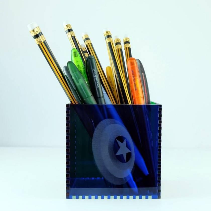 The Avengers Acrylic Cube Pen Pot