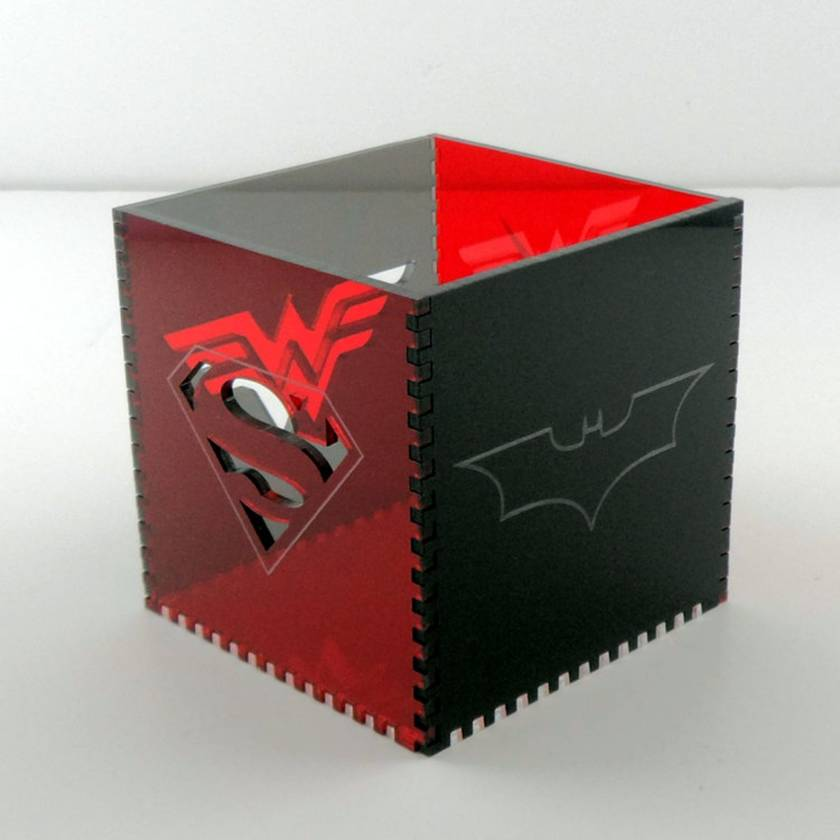 Justice League Acrylic Cube Pen Pot