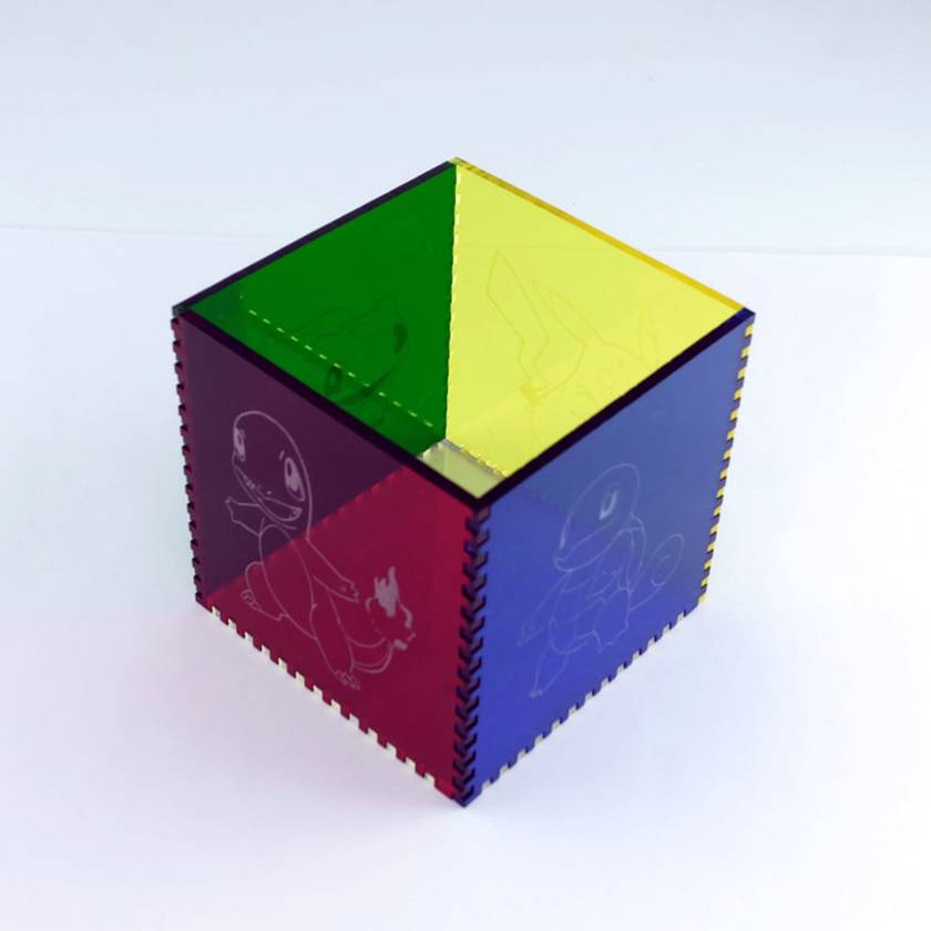 Pokemon Acrylic Cube Pen Pot
