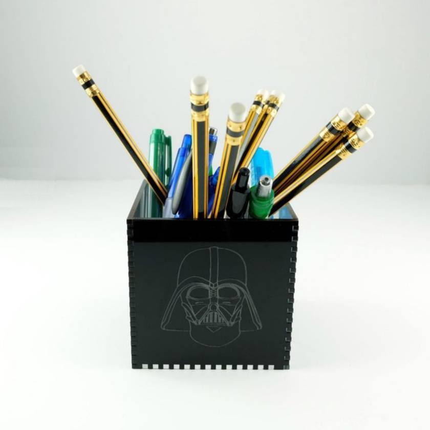 SW Rebels vs Empire Acrylic Cube Pen Pot