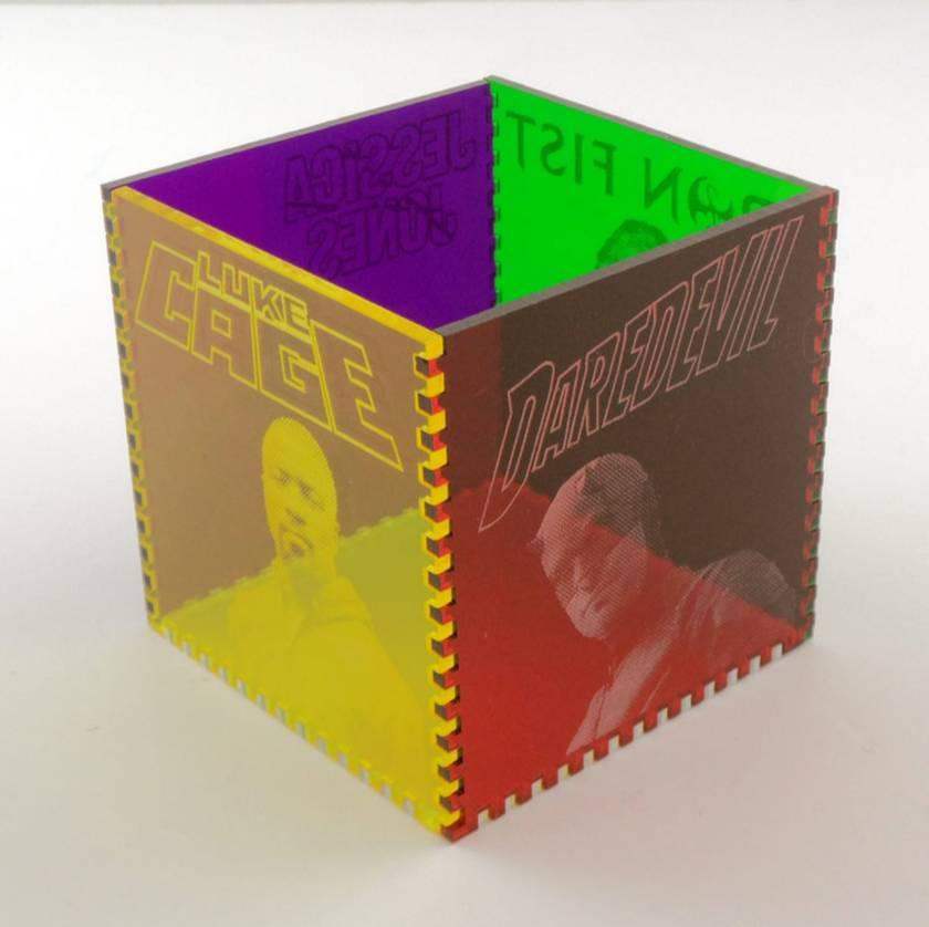 The Defenders Acrylic Cube Pen Pot