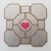 Portal Companion Cube Mounted Wall Art