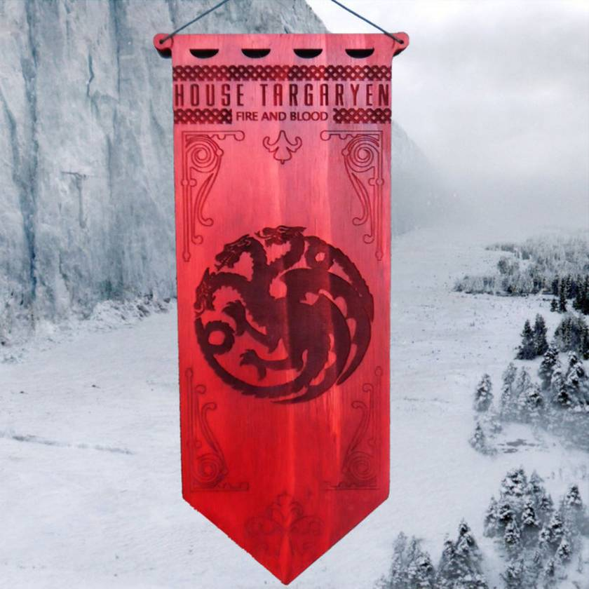 House Targaryen Game of Thrones Banner Hanging Wall Art