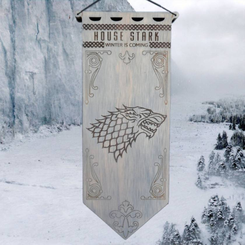 House Stark Game of Thrones Banner Hanging Wall Art