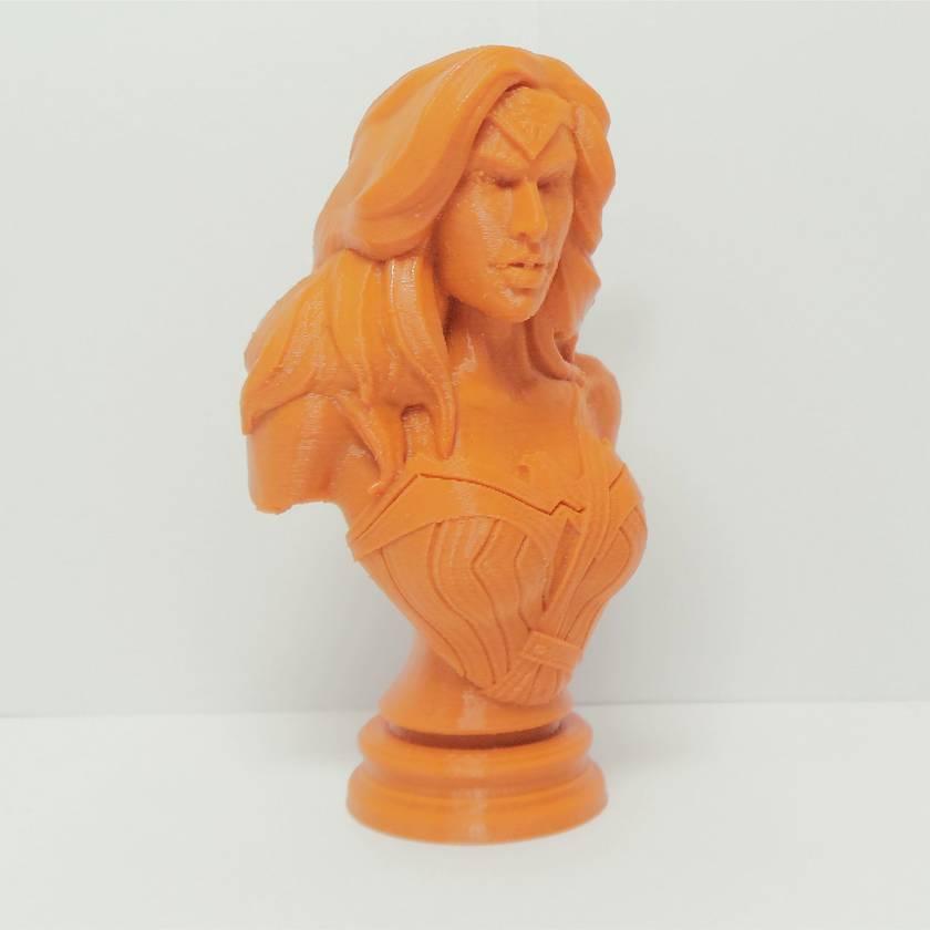 3D Printed Bust Wonder Woman Figure 9cm